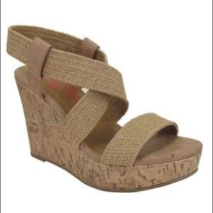 ‼️2 for $10‼️ Jellypop tan wedges